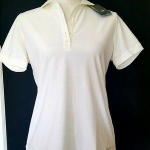 NWT Nike Women's Golf DRI-FIT White Polo Medium